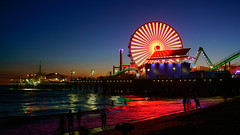 Pacific Park #2   Santa Monica Pier. (topendsteve) Tags: santa monica beach pier ferris wheel amusement park water reflection outdoor santamonica night a7r2 ferriswheel