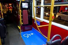 Route N26 - 2505 CT Plus - Enviro 400 City (4) (LFaurePhotos) Tags: bus london night interior wheelchair trafalgarsquare charingcross upholstery moquette centrallondon 2505 ctplus lowersaloon routen26 sn16ohu