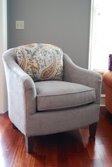Smith Brothers 942 Chair (Brian's Furniture) Tags: blue orange contrast grey back maple chair brothers smith pillow made fabric american finish custom paisley berne stationary welt welting 94230 390114 335109 388809 po6216632