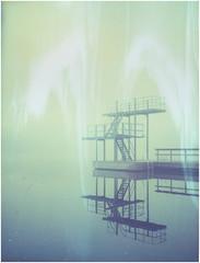 Diving tower (Maija Karisma) Tags: polaroid instant expired pola expiredfilm 669 peelapart polaroid180 littlebitbetterscan