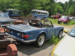 BEAT TR6 (richie 59) Tags: auto trees newyork cars car rural america outside rust automobile unitedstates weekend country sunday rusty convertible faded willow chrome rusted triumph beat vehicle rusting newyorkstate oldcar taillights tr6 sportscar bluecar backend repairshop britishcar britishsportscar 2016 fadedpaint ulstercounty motorvehicle triumphtr6 europeancar autorepairshop ulstercountyny oldsportscar oldtriumph 1970scar 2010s willowny oldconvertible richie59 townofwoodstock townofwoodstockny june2016 june262016