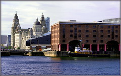 UNESCO World Heritage Site (* RICHARD M (Over 5 million views)) Tags: threegraces pierhead albertdock liverpool merseyside unescoworldheritagesite unescomaritimemercantilecity unescocityofmusic europeancapitalofculture capitalofculture thebrocklebank brocklebank tug tugboat boats shipping nautical sailing arches archways pillars ironpillars quay quayside water rivermersey docks docklands liverpoollandmarks mannisland portofliverpoolbuilding cunardbuilding royalliverbuilding liverbuilding windows waterfront sea marine domes clocktowers maritime ports seaports