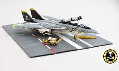 Tomcat diorama (Mad physicist) Tags: lego f14 tomcat usnavy f14a fighter