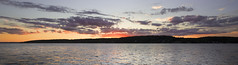 Lake Geneva Sunset (mckenziemedia) Tags: lakegeneva genevalake lake reflections reflection summer sunset sunrise light glow golden twilight dusk water clouds illumination sky blue yellow red purple orange canon eos 5d mark iii 1740mm wisconsin pano panorama