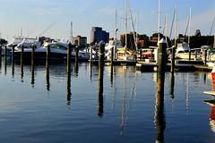 Sunset at a Hampton Roads Marina (mslabrat13) Tags: blue water marina virginia sailboats moorings cmwdblue