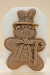 Gingerbread Man $3.00 (Clelian Heights) Tags: christmas winter gingerbread gingerbreadman soaps unscented decorativesoaps cleliansoaps cleliancenter