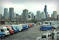 chicago (BalineseCat) Tags: chicago skyline truck downtown loop delivery facility tribune dispatch