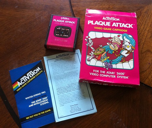 Activision Plaque Attack for the Atari -1983