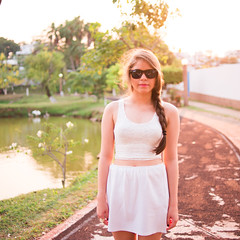 (Isai Alvarado) Tags: park street pink light sunset portrait urban woman lake cinema blur tree film water girl fashion 35mm movie glasses daylight model hands nikon focus sara dof arms bokeh stock cine shades lips cinematic d800