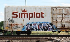 Garde (quiet-silence) Tags: railroad art train graffiti railcar graff freight garde reefer nsf insulated fr8 simplot jrsx jrsx6034