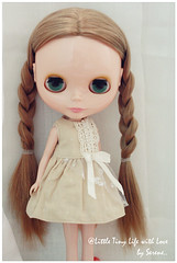 Vintage Khaki One Piece Dress for Blythe Doll