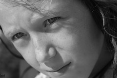 Just Too Cute in Black and White (Kevin MG) Tags: ocean ca blackandwhite bw usa cute beach girl monochrome closeup children losangeles little young malibu zuma bikini zumabeach