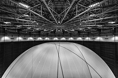 Big Air Package @ Gasometer Oberhausen (III) (manuela.martin) Tags: blackandwhite bw architecture installation architektur oberhausen christo gasometer gasometeroberhausen schwarzundweis bigairpackage