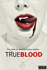 Delicious (electricapples) Tags: poster blood vampire copycat lips fangs wah wh trueblood werehere hereios projectlimitless