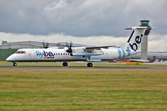 G-FLBA DHC-8Q 402 Flybe MAN 10-08-13 (PlanecrazyUK) Tags: man manchester egcc flybe dhc8q402 gflba