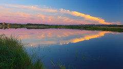 welcome to the show (Sergey S Ponomarev) Tags: city sunset summer sky reflection nature water clouds canon reflections landscape russia outdoor ngc hdr springboard polarizing 600d vyatka sergeyponomarev