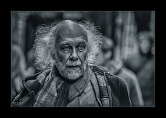 solitude (ben walgate photo freedom) Tags: life street camera york old portrait people man hair beard photography nikon sad faces emotion expression candid streetphotography style thinking oldpeople jackets hdr gripping nationalgeographic scalf 2013