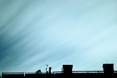 Urban sky (pseudonym_cp) Tags: city blue sky urban movement weldingglass
