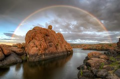 MPW_4197_198_199_201_tonemapped (Michael-Wilson) Tags: arizona lake michael rainbow az wilson doublerainbow prescott watsonlake michaelwilsoncom
