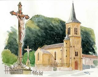 Christ de l'église  Parnac