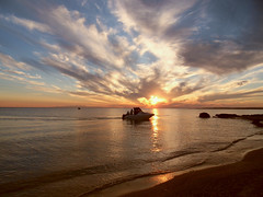 Autumn sunset (NIKOZAR (Nicola Zaratta)) Tags: sunset sea sky cloud nuvole mare cielo puglia taranto litoraneajonica tramontosulmare marinadilizzano samsungwb500 blinkagain