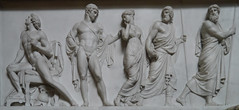 Chatsworth House, Sculpture Gallery (jacquemart) Tags: marble neoclassical basrelief sculpturegallery chatsworthhousebeyondlimits2013