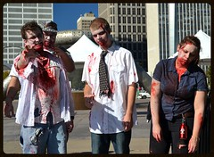 Zombie Plaza (timmerschester) Tags: buildings michigan detroit creepy more zombies hartplaza thedetroitzombiewalk2013