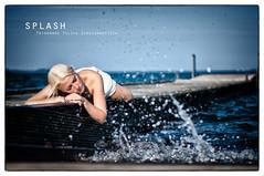 splash 1a (ya.yuli) Tags: woman water girl wasser splash frau schwan steg