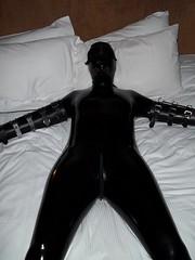 bedroom bondage 04 slack master mike tags bondage latex hood gag