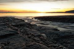 Moving Water Sunrise (C McCann) Tags: morning canada sunrise dawn long exposure bc britishcolumbia victoria vancouverisland saanich firstlight cordovabay harostrait