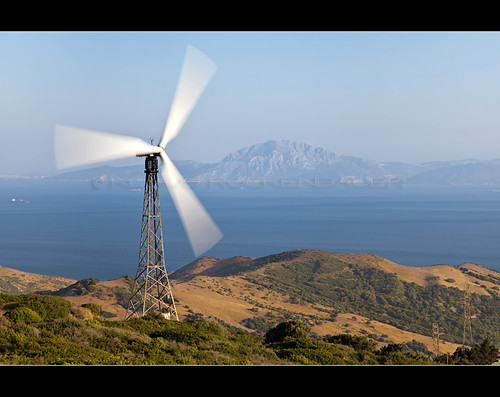 Kenetech KVS-33 windturbine at Tarifa, Spain