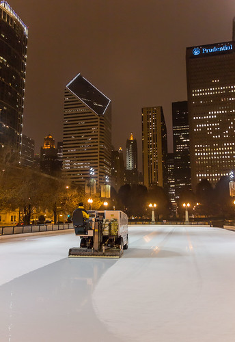 Zamboni at Park Place Rink