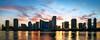 Miami Sunset Skyline (Sky Noir) Tags: sunset skyline cityscape florida miami pano fl skynoir