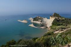 Corfu Coastline II (Holfo) Tags: beach landscape greek bay coast nikon rocks mediterranean outdoor cliffs greece shore coastline greekislands corfu ionianislands d5100 nikond5100