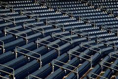 Yankee Stadium Seating (only lines) Tags: blue usa newyork baseball empty rows seating yankeestadium
