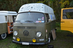 """VW Combi T2a """"High roof"""" (v8dub) Tags: auto old roof bus classic car vw volkswagen high automobile automotive voiture fribourg van freiburg camper combi kombi transporter collector schwarzsee bulli aircooled youngtimer wagen pkw klassik schwartsevw2013"""