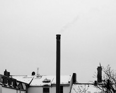 Another shitty day in paradise... (floressas.desesseintes) Tags: schnee winter trist dcher schwarzweis winterhass