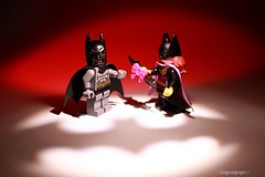 Happy valentines day (Legoagogo) Tags: woman lego bat valentine batman batgirl valentinesday chichester moc legoagogo