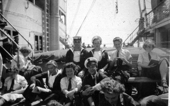 Onboard RMS Samaria Homeward Bound 1940s.