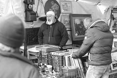 Flee market Trastevere Rome (HansLigtvoet) Tags: leica people urban blackandwhite bw rome roma monochrome blackwhite gape