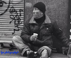 Winter Anguish (Halcon122) Tags: madrid street blackandwhite bw spain downtown candid streetphotography beggar amputee