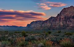 Red Rock Sunset (Happy Photographer) Tags: sunset clouds desert lasvegas nevada redrockcanyonnationalconservationarea nationalparksystem amyhudechek