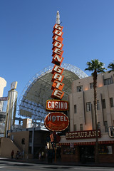 Golden Gate (Flint Foto Factory) Tags: street city las vegas autumn urban gambling fall sign vintage restaurant hotel golden october gate downtown afternoon district nevada sunday casino fremont oldschool palm experience signage canopy 2013
