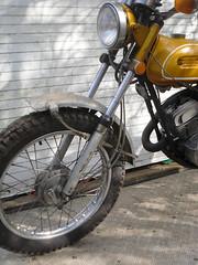 front (Nicola_R) Tags: new york classic bike vintage project bristol japanese 1971 motorbike trail motorcycle yamaha restored restoration 175 enduro scrambler ct1 trailbike scambler vjmc ct1c