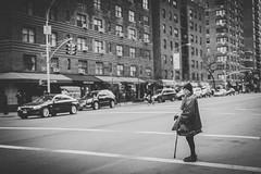 The wait (Denn-Ice) Tags: street nyc newyorkcity people blackandwhite bw ny newyork monochrome canon 50mm blackwhite mark manhatta