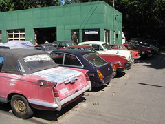 British Cars (Taylor Player) Tags: new england cars car barn junk automobile colorful antique connecticut parts rusty mg collection triumph british junkyard rough find herald tr6 convertibles mgb tr250 tr3 picker roadsters mgbt
