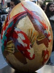 Fish Egg - FRANK HYDER FOR REBECCA HOSSACK GALLERY (One of the NYC Big Egg Hunt giant Easter Eggs) (SA_Steve) Tags: nyc art easter artistic egg creative eggs eastereggs 2014 easteregg faberge thebigegghunt bigegghunt thebigegghuntny