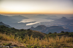 A View to behold! (shivaangsharma1408) Tags: city sunset sky urban india lake black nature night sunrise skyscape landscape horizon pune shutterspeed harishchandragad