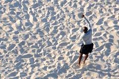 Beach Volleyball (Crumblin Down) Tags: ocean blue sunset sea seagulls beach water beautiful birds sunrise island mar spring sand perfect paradise gulls salt footprints cable atlantic resort atlantis caribbean bahamas nassau saltwater baha wyndham 2014