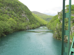 37.View northwards along Una river crossing into Croatia (Scubatrack) Tags: bosnia croatia railways zfbh
